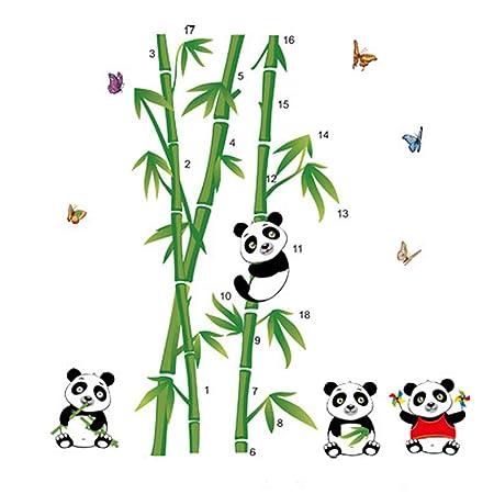 Cute Cartoon Pandas Bamboos Wall Sticker Decal Home Decor Pvc Murals