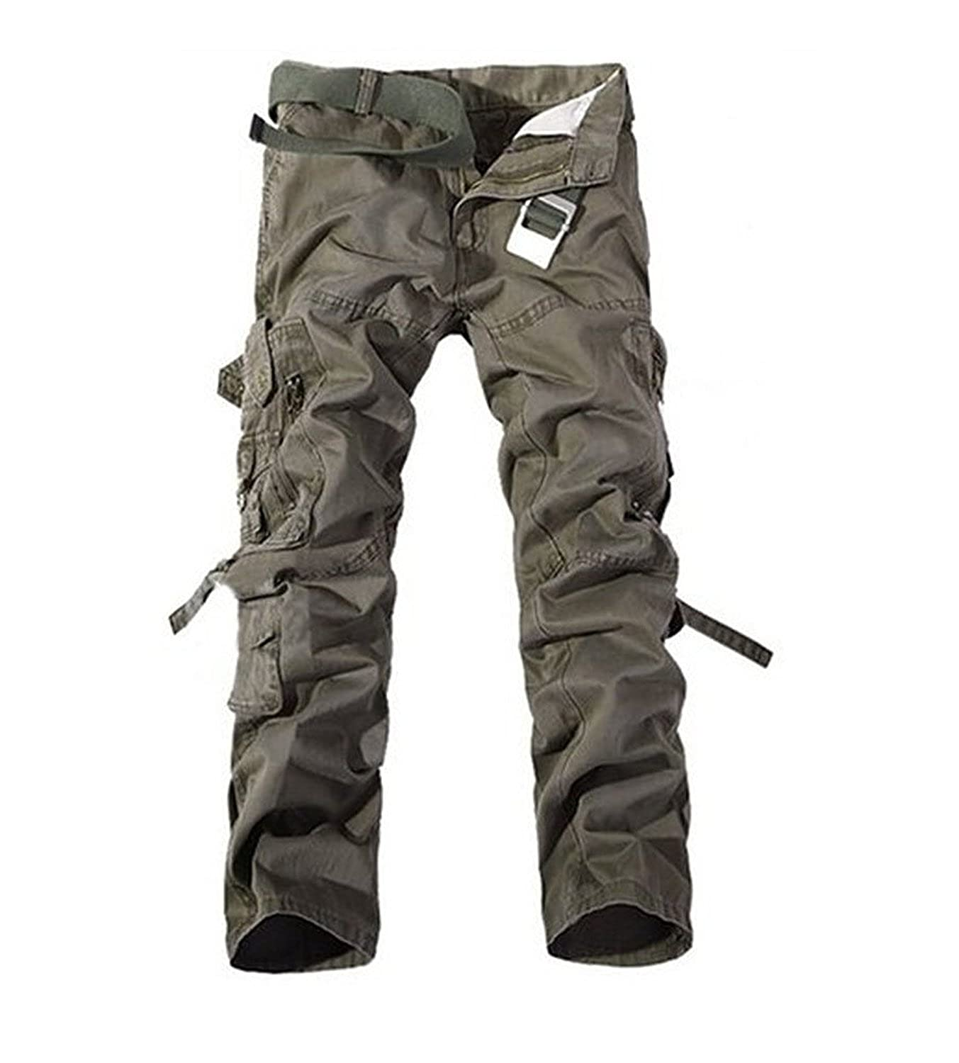 Keybur Mens Cotton Casual Military Army Cargo Camo Combat Work Pants