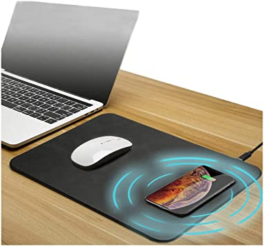4 in 1 Bluetooth Speaker Wireless Charging Mouse Pad Qi Moblie Phone Charger 4000mAh Power for Home Office IOIOA Wireless Charging Mouse Pad