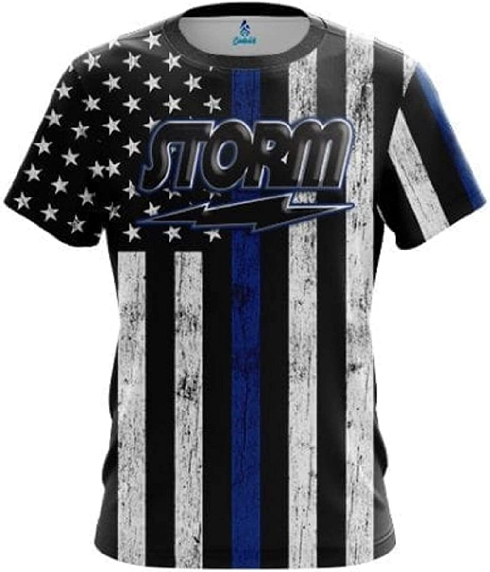 CoolWick Storm Blue Line Bowling Jersey