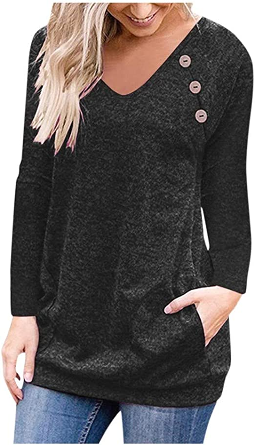 SSYUNO Womens Pullover Chunky Turtle Cowl Neck Asymmetric Hem Wrap Sweater Coat with Button Details