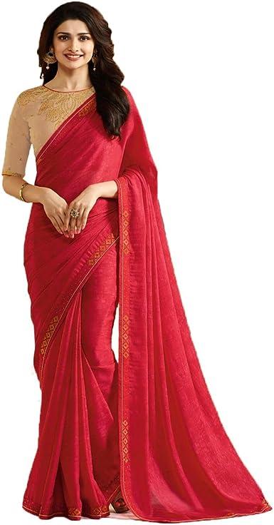 Saree Sari Bollywood Indian Style Wedding Fancy Traditional Women Designer 1