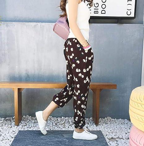 GZHGF Pantalones Harem De Impresión De Gasa/Pantalones De Linterna Pantalones De Yoga/Pilates-Patrón De Boho De Festival: Amazon.es: Deportes y aire libre
