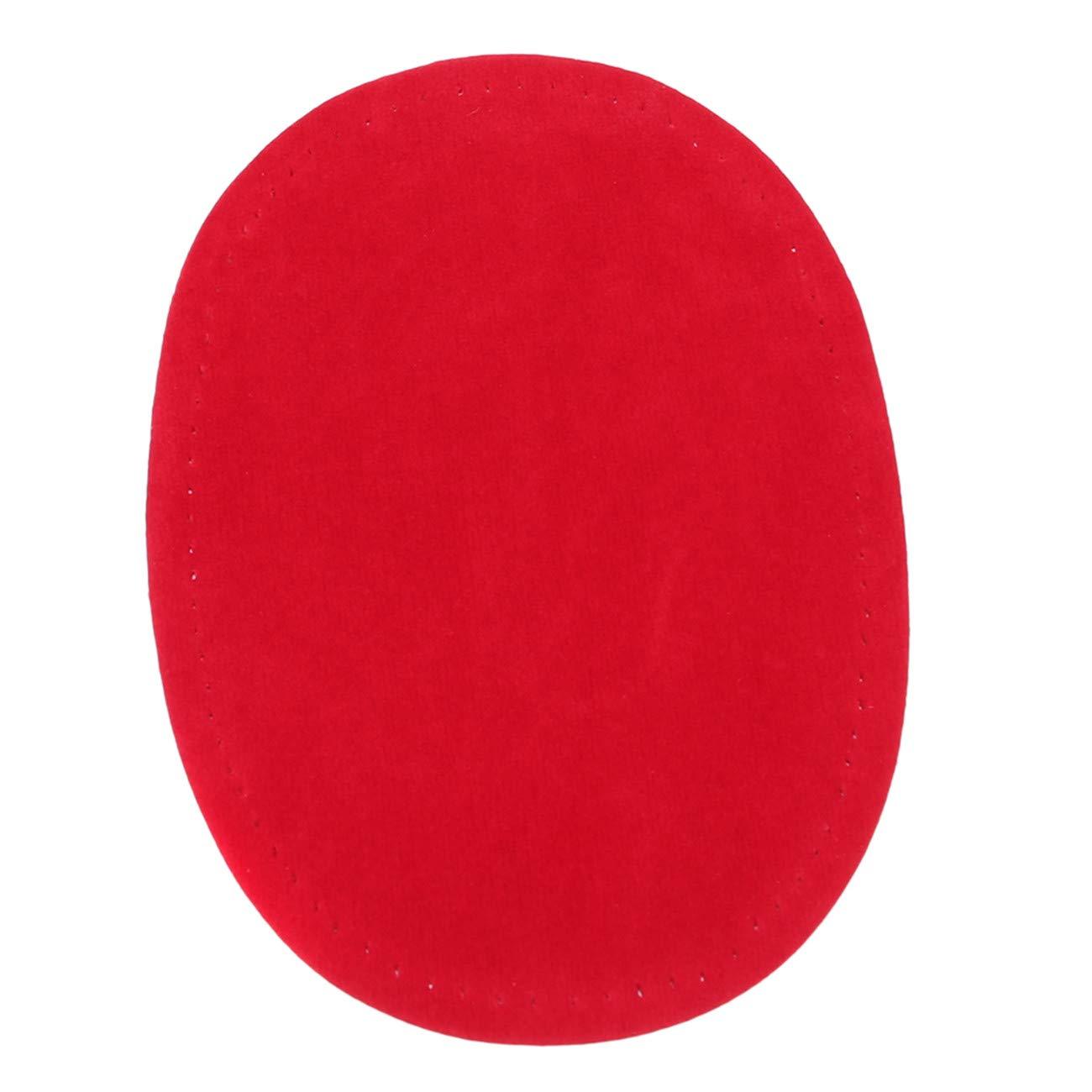 Rouge Bigsweety Cuir Imitation Daim Coudre Le Fer sur Les Patchs Ovale Genou Coude Autocollant Outil De V/êtements De Bricolage