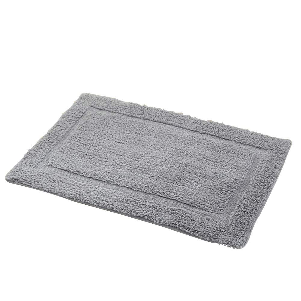 AXIANQIMat Soft Mat Floor Mat Towel Bathroom Non-Slip Bathroom Door Mat Cotton Absorbent Long Hair Thickening Mat Washable Brown 5080cm 6090cm (Color : Gray, Size : 5080cm)