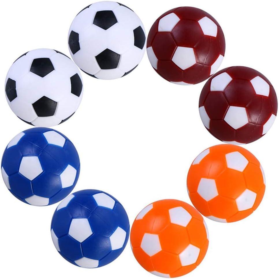 Ishua 8 PCS Mini fútbol de Mesa Balones Profesionales de Color Balón de fútbol Estándar de reemplazo estándar para Juegos Cambio de Bolas de futbolín Paquete Incluido: 8 x Mini futbolín: Amazon.es: