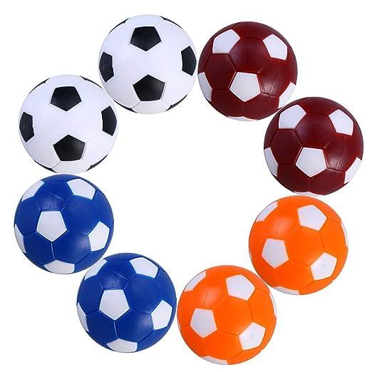 Ishua 8 PCS Mini fútbol de Mesa Balones Profesionales de Color ...