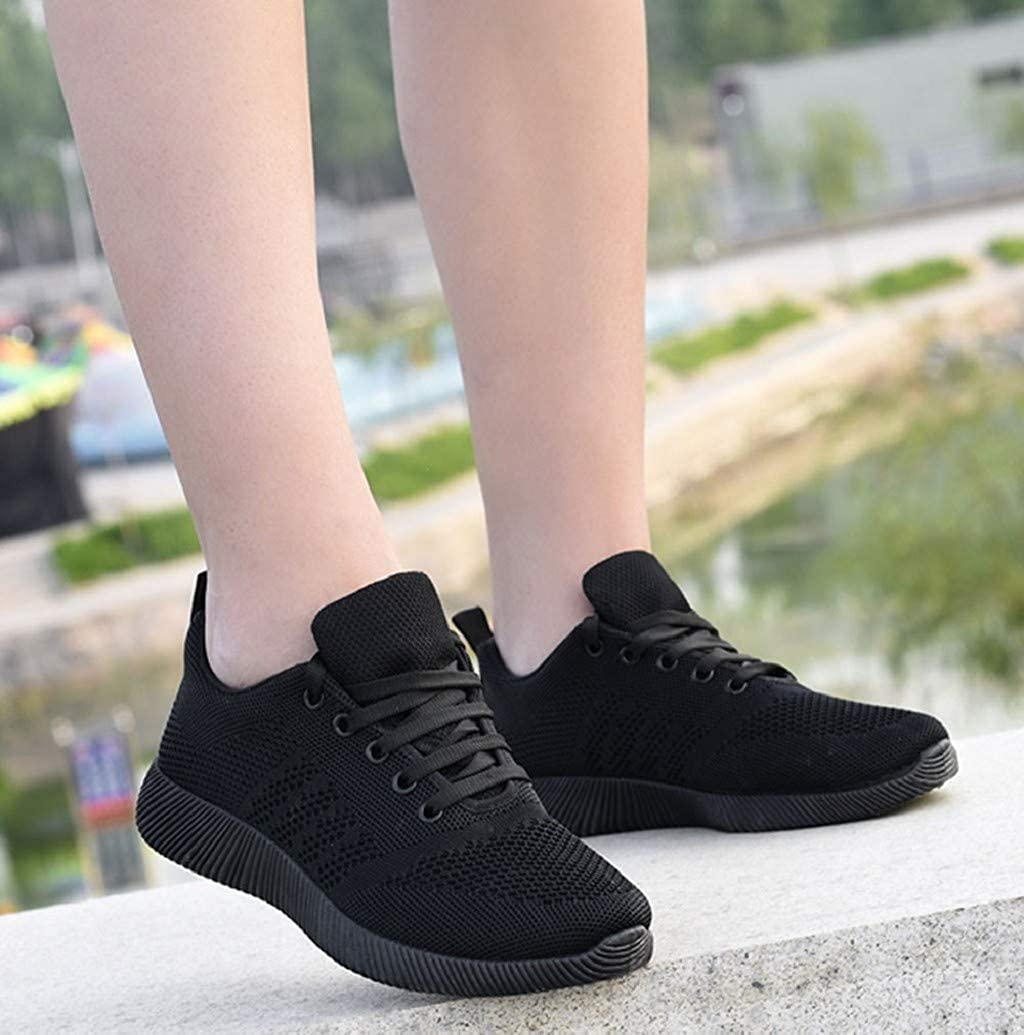 Fashion Women Breathable Flying Weaving Sneakers Comfortable Mesh Athletic Running Walking Shoes Sneakers by Nevera