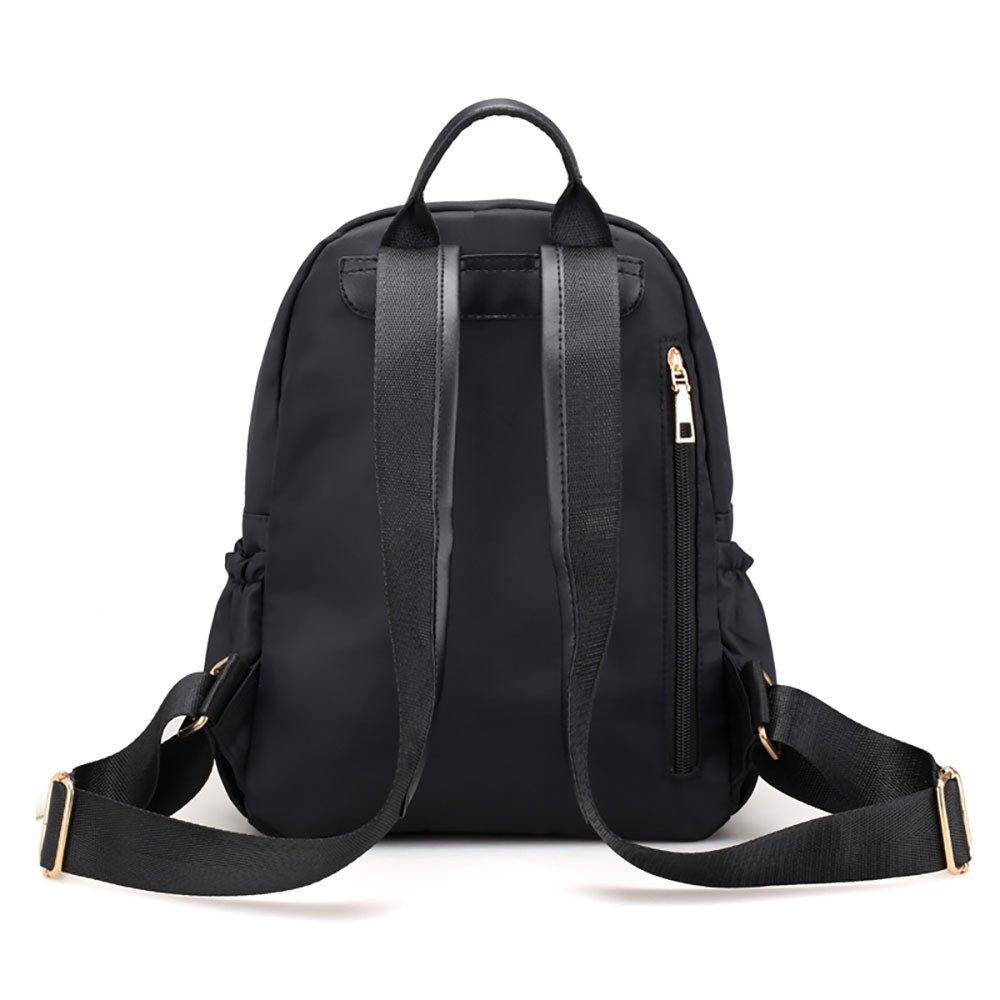 JESPER Nylon Oxford Cloth Backpack Women Backpack College Wind Bag Leisure Bag Black by JESPER (Image #3)