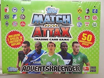 Match Attax Weihnachtskalender.Topps To90351 Match Attax Adventskalender 2011