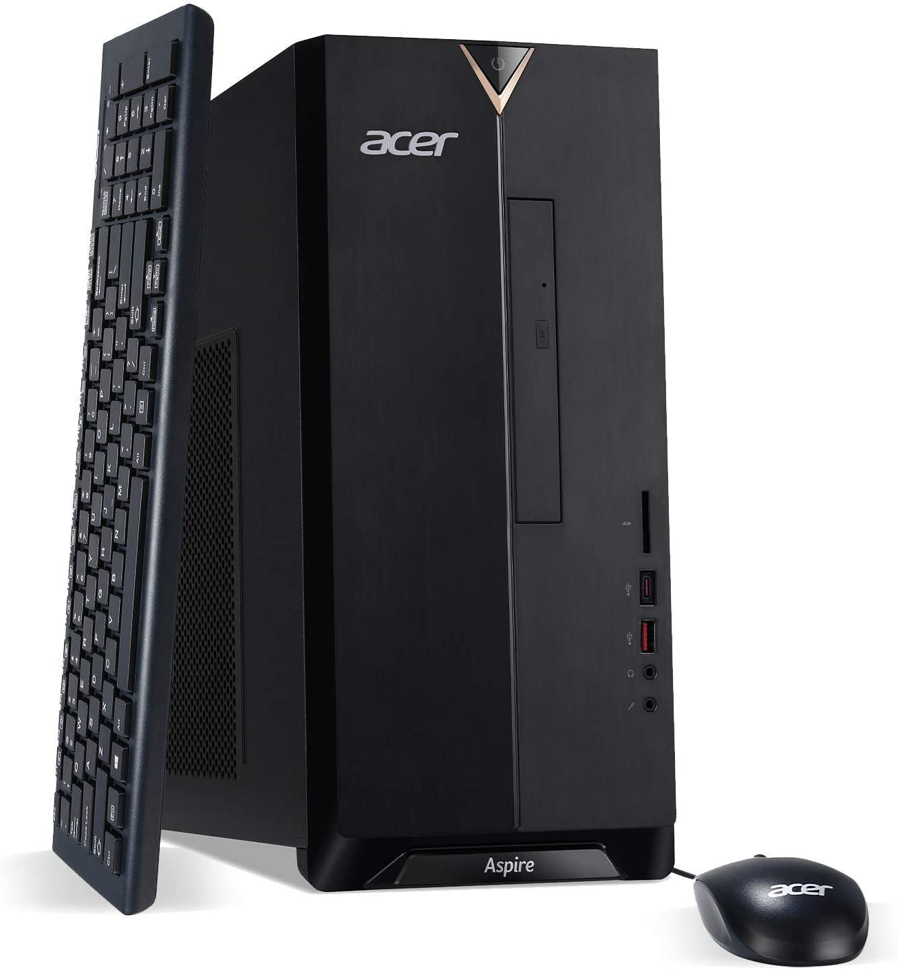 Acer Aspire TC-885-UA92 Desktop, 9th Gen Intel Core i5-9400, 12GB DDR4, 512GB SSD, 8X DVD, 802.11ac WiFi, USB 3.1 Type C, Windows 10 Home (Renewed)