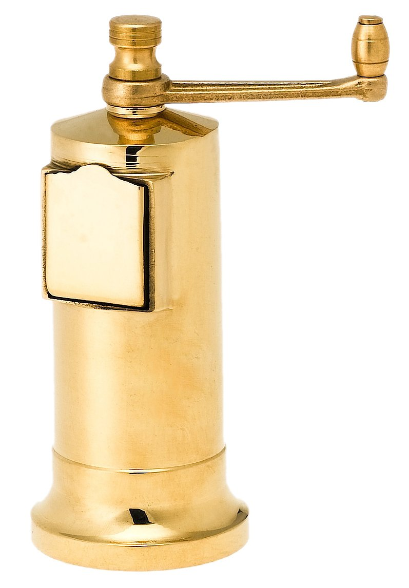 Pepper Mill Imports Chef's Mate Pepper Mill, Brass, 5 5 110