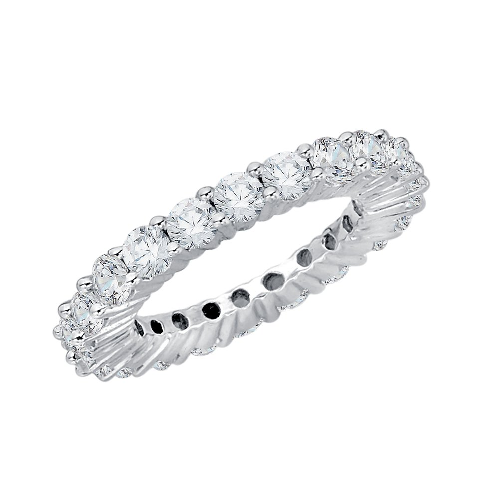 Diamond Eternity Band in Sterling Silver (2 3/8 cttw) (GH-Color, I2/I3-Clarity) (Size-11.25)