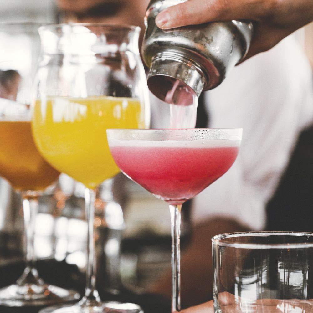 Kit Cocktail Completo e Professionale per shakerare e preparare Cocktail Argento MetroDecor mDesign Set Cocktail e Organizer per Set Barman in Acciaio e bamb/ù