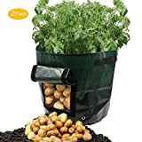 buy Amerzam 2-Pack 7 Gallon Garden Potato Grow Bag Vegetables Planter Bags with Handles and Access Flap for Grow Vegetables: Potato, Carrot & Onion now, new 2018-2017 bestseller, review and Photo, best price $19.99
