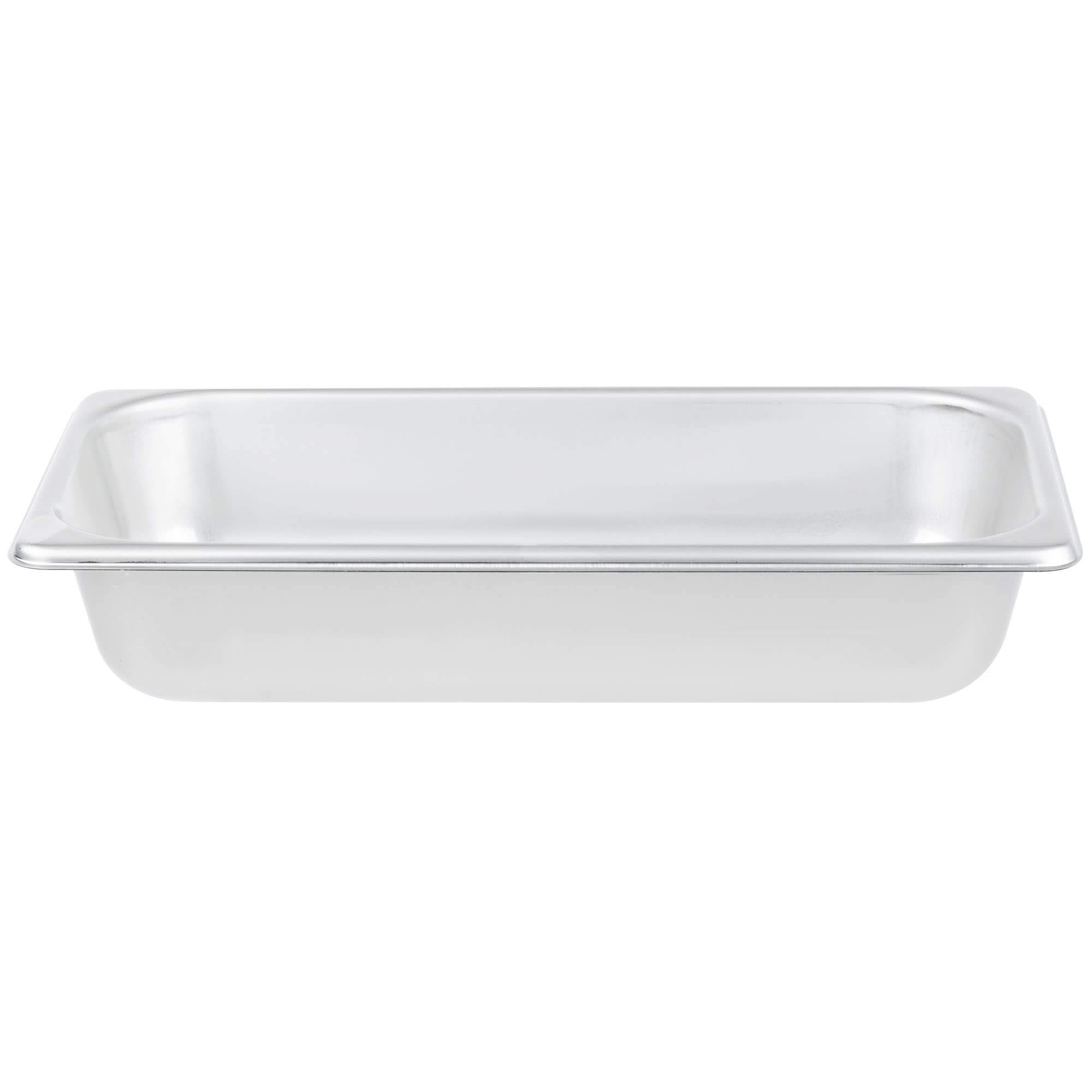 TableTop King S12062 Super Pan Heavy-Duty 1/3 Size Anti-Jam Stainless Steel Steam Table/Hotel Pan - 2 1/2'' Deep by TableTop King