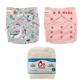 PERFECT BUM 3 Pc Set Lot~Cloth DIAPER Cover+Prefold Insert Liner+Tee Or+P~S//M//L