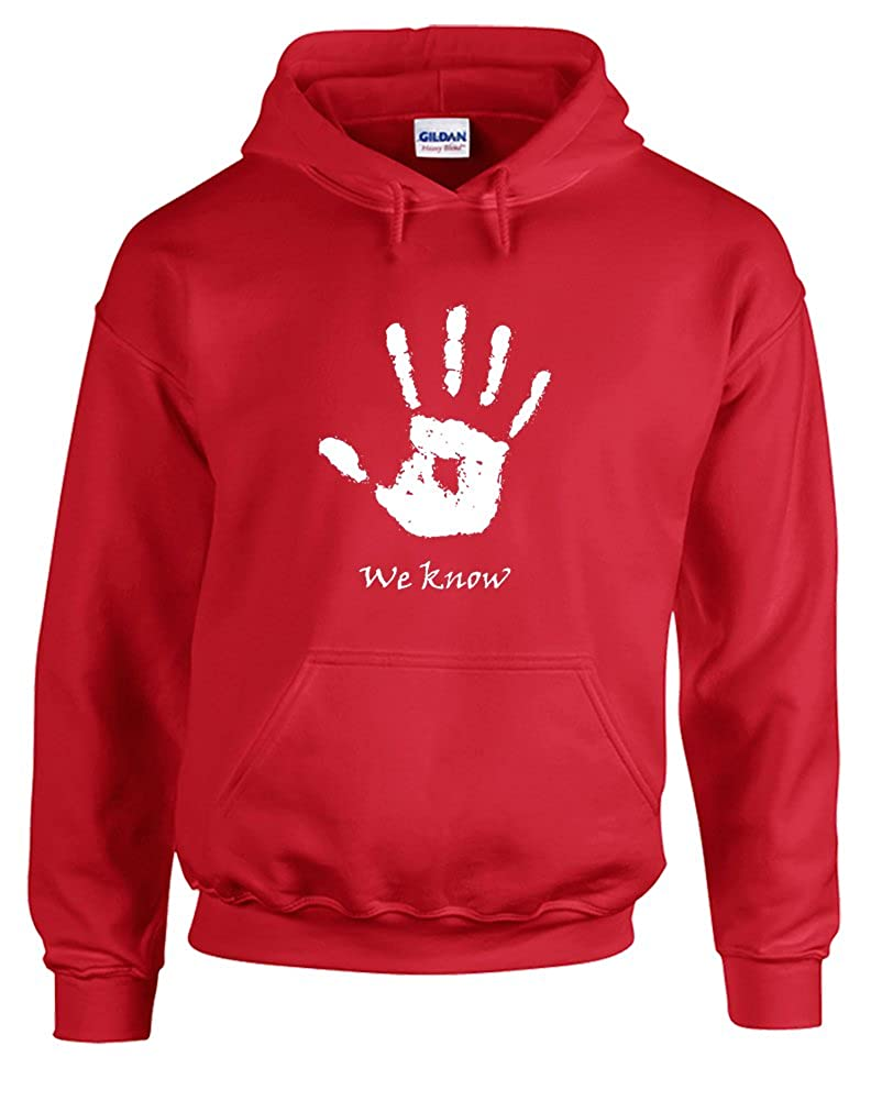Printed Hoodie We Know Handprint