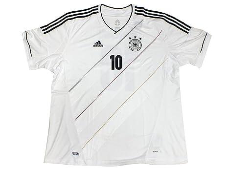 Adidas DFB - Camiseta de fútbol con nombre de Podolski blanco/negro Talla:S