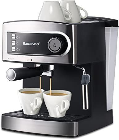 Excelvan 15 Bar Pump Espresso Italian Style Coffee Machine Hot Drinks Cappuccino Coffee Maker 850w