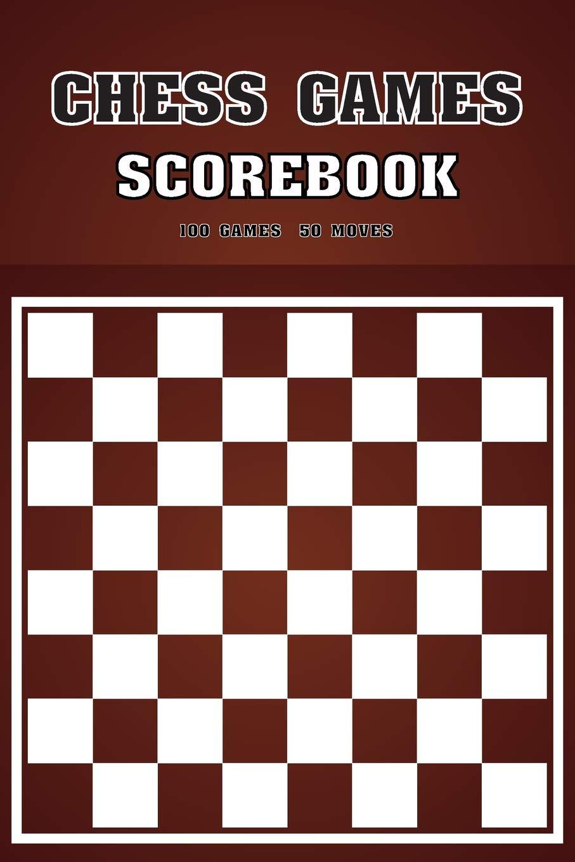 SCOREBOOK SCORE BOOK CHESS 50 GAMES 100 MOVES  *NEW*