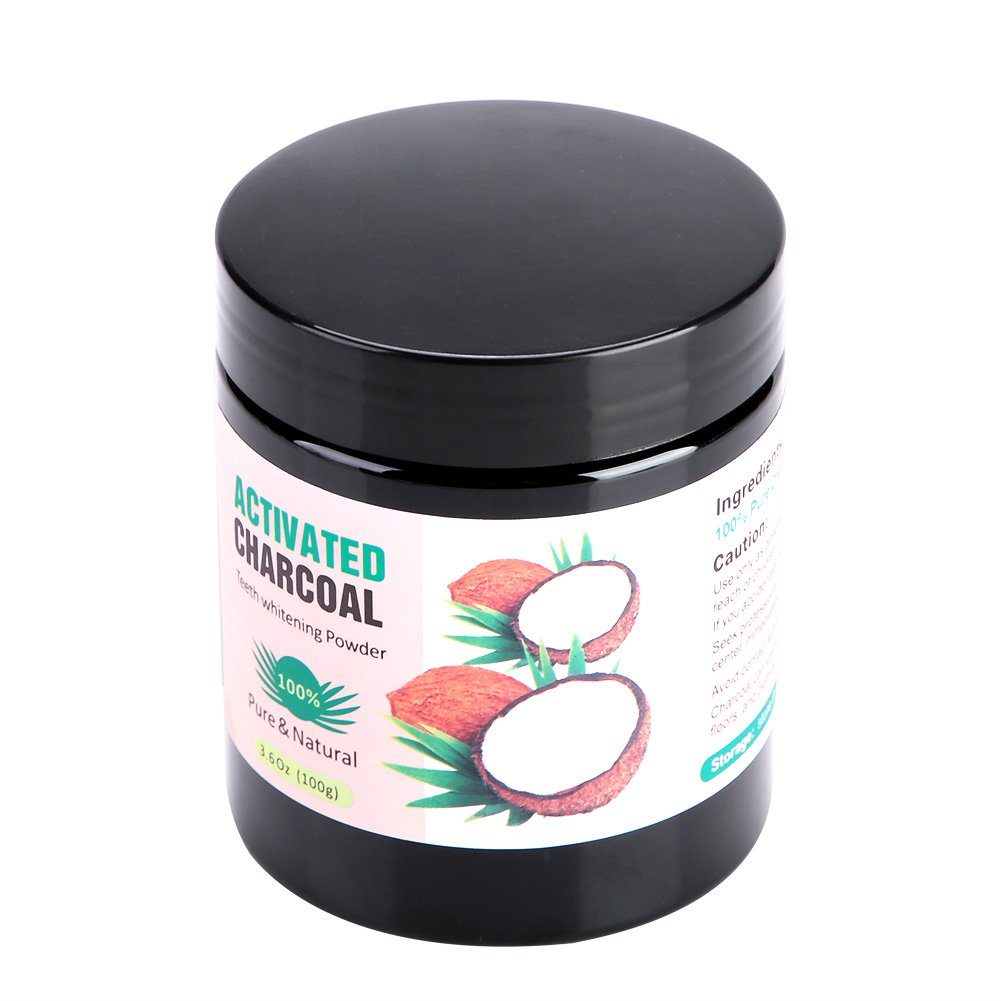 Activated Charcoal Teeth Whitening Powder organic Pure Natural Coconut Tooth Whiter Stain Remover Eraser Oral Care Tool for Daily Use(Pink Package)