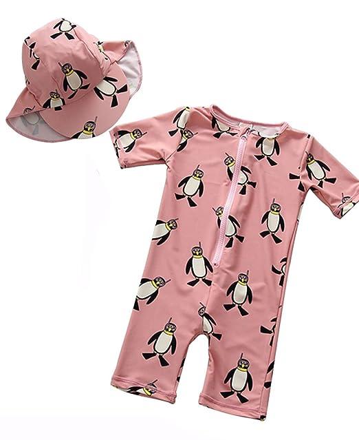 710635facc Kids Baby Boys Cartoon Dinosaurs Half Sleeve Sunsuits Sun Protection Rash  Guards Swimsuit Size 2-