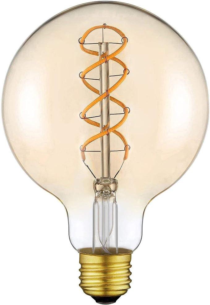 LED FILAMENT LAMPEN E27 G125 12W Leuchte Glühbirne warmweiss Leuchtmittel KWAZAR