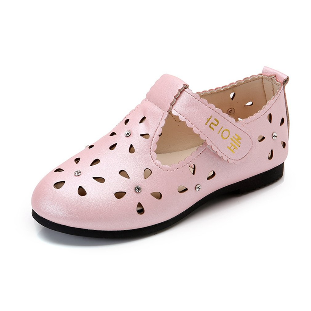CYBLING Girls Casual Slip On Bowknot Mary Jane Flat Princess Dress Shoes Toddler//Little Kid