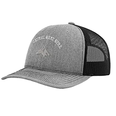 4a21bfe47f4 Richardson Trucker Hat Egret Funny DBH Embroidery Animal Name Polyester  Baseball Mesh Cap Snaps - Heather