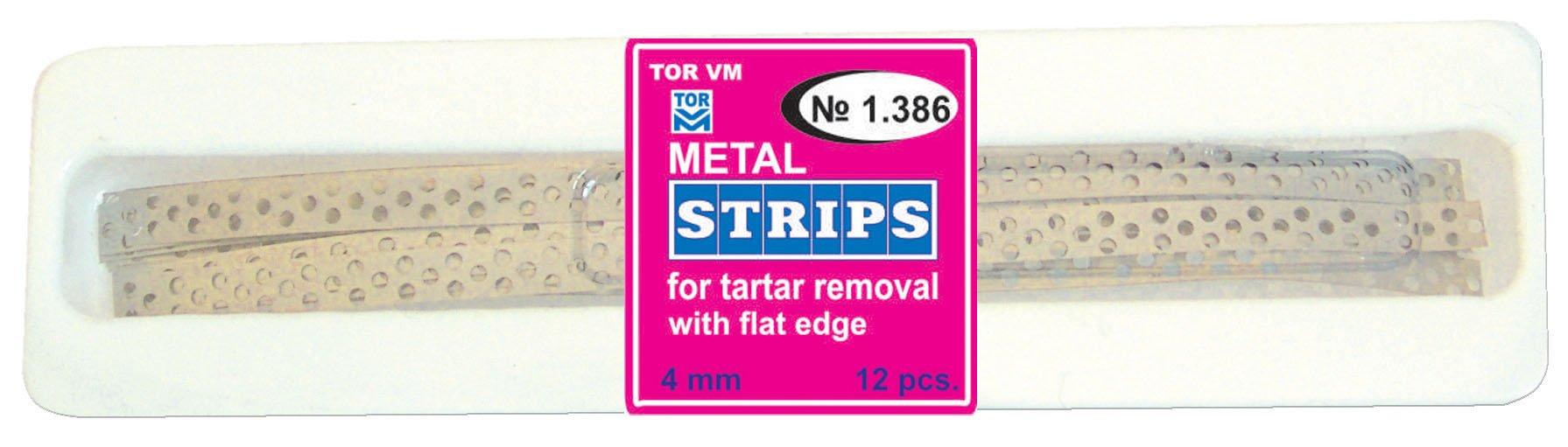 Dental Perforated Prophylactic Metal Strips for Tartar Removal TOR VM (1 pack)
