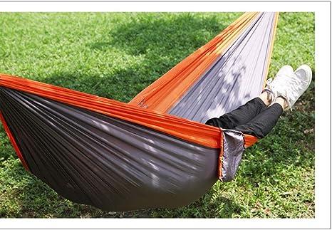 Hamacas Jardin Portátil y Ultra-Ligera ExterioresColumpio Hamaca multifunción Nylon/Simple de 260x140cm, Naranja: Amazon.es: Deportes y aire libre