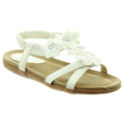 6915f2c1013 Lunar Kids Fiji JCH002 Sandals in White  Amazon.co.uk  Shoes   Bags