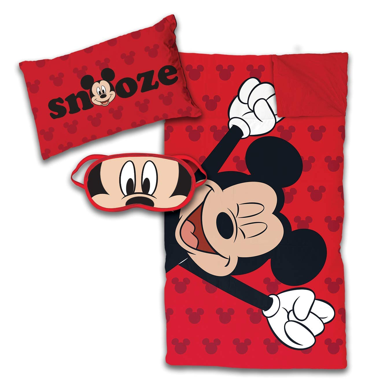 Jay Franco Disney Mickey Mouse 3 Piece Slumber Set, Red by Jay Franco (Image #1)