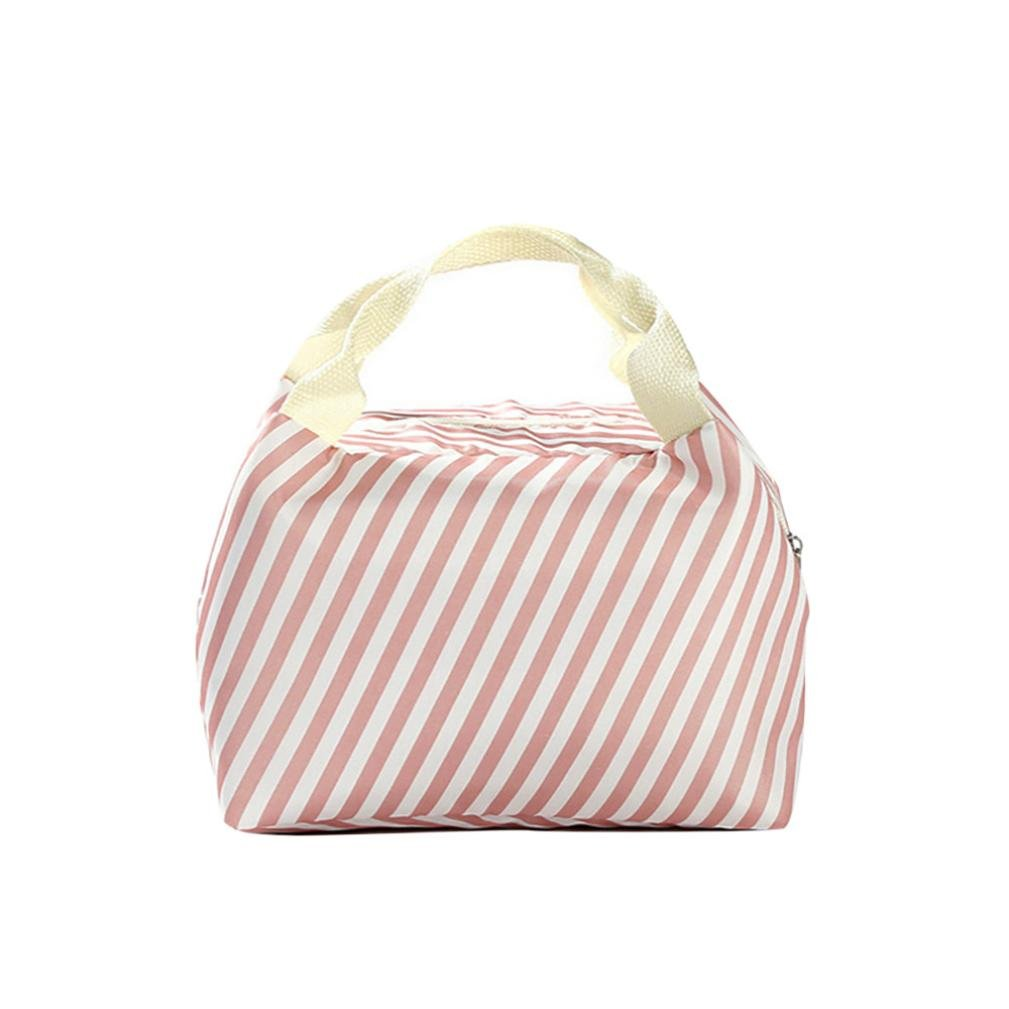 Clearance Deal! Hot Sale!Lunch Bag, Fitfulvan For Women Kids Men Insulated Canvas Box Tote Bag Thermal Cooler Food Lunch Bags (E)