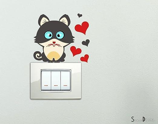 39 opinioni per Adesivo Murale Simpatico Gattino con Cuoricini Adesivi Cuori e Gatto