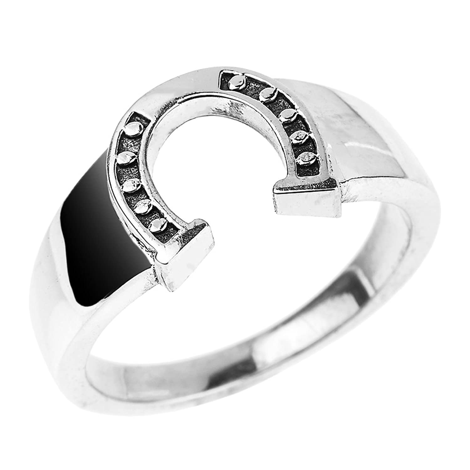 Fine 925 Sterling Silver Lucky Horseshoe Ring