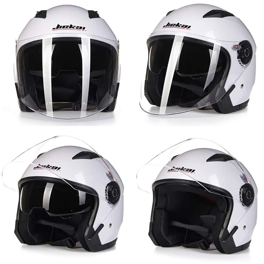 BP/&S Motorcycle Four Season Open Face Helmet,Vintage Jet Helmet Pilot Helmet Vespa Cruiser Scooter Helmet ECE D.O.T Certified Unisex Harley Helmet,Yellow,M