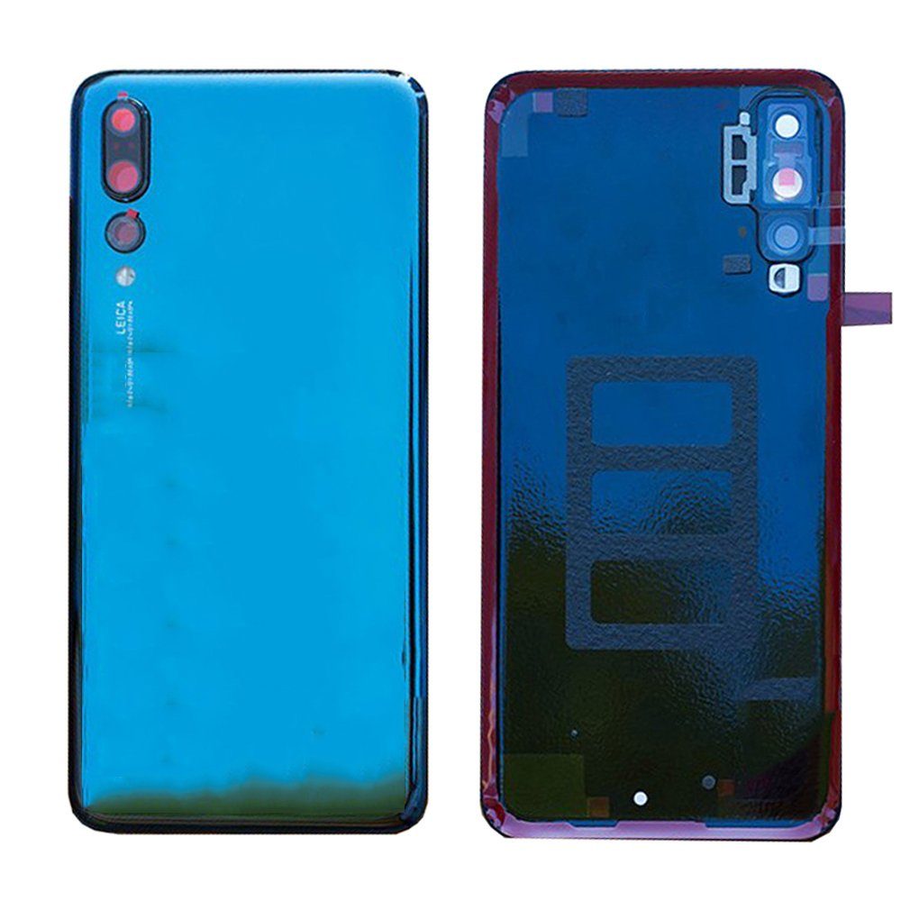 Battery Housing Door Cover Back Case Replacement with Camera Lens for Huawei P20 Pro CLT-L04 CLT-L09 CLT-L09C CLT-L29 CLT-L29C CLT-AL00 CLT-AL01/P20 Plus 6.1'' Blue