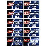 Super Iridium Double Edge Razor Blades 50 Pack 50 by Polsilver