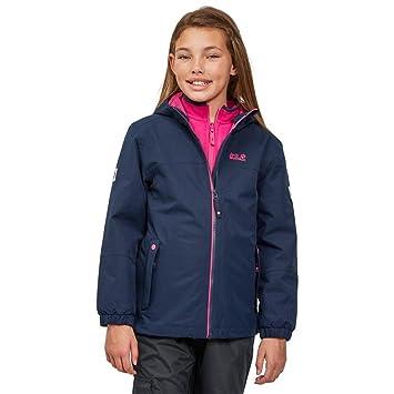 Jack Wolfskin Mädchen G Iceland 3-in-1 Jacket Jacke, Midnight Blue, 5642cb71af