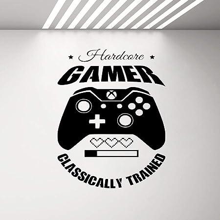 Yyoutop Gaming Quote Hardcore Gamer por Wall Art Sticker Boys Man ...