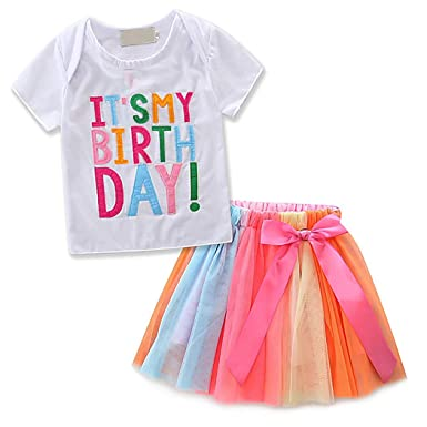 Zoylink Baby Girls Trajes De Cumpleaños Falda Del Tutu Falda ...