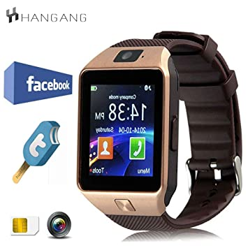 hangang Smartwatch Bluetooth Inteligente Reloj 1.56 Pantalla táctil TFT LCD podómetro táctil Smart Watch Android para Jogging Running Sport dz09