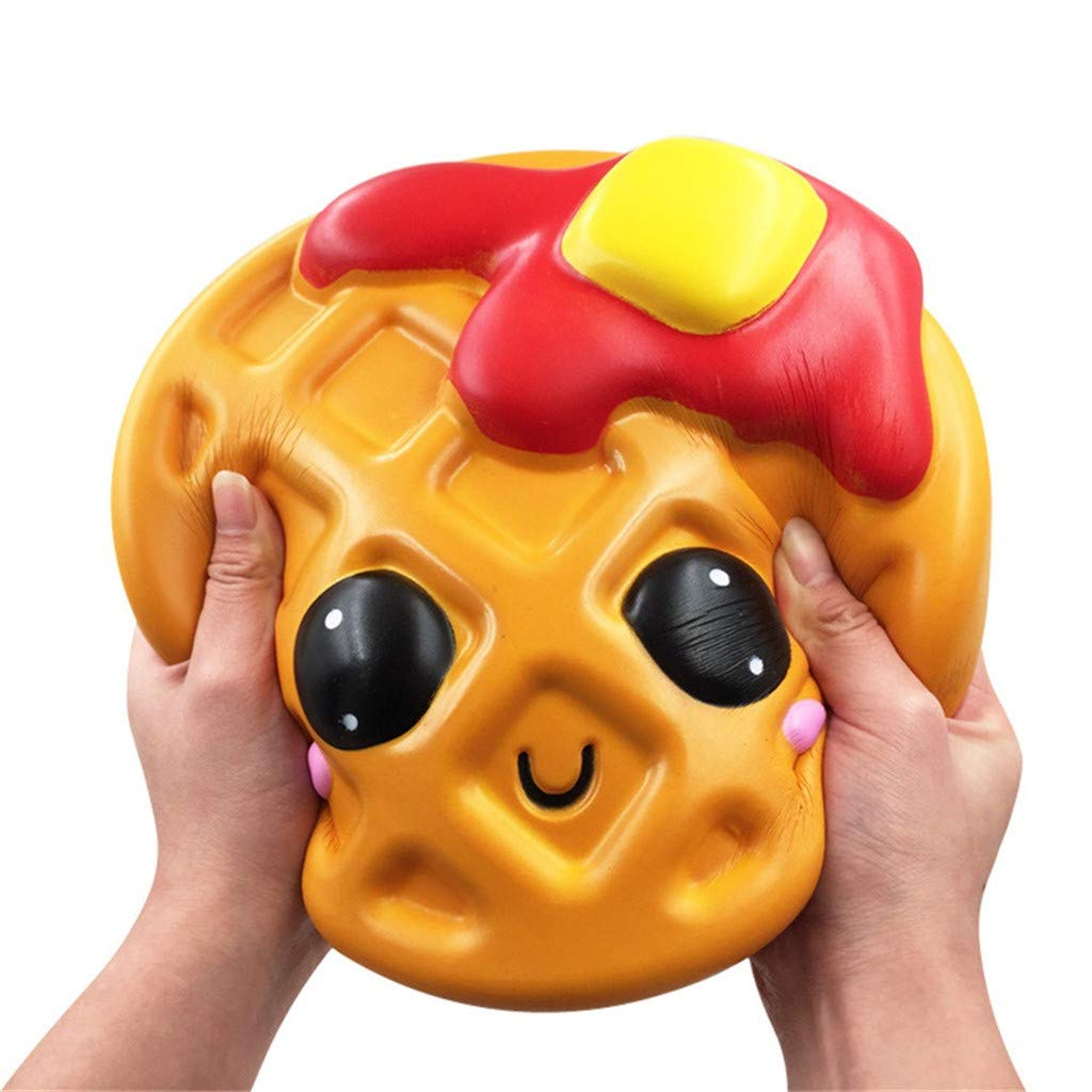 Libison Adorable Kawaii Jumbo Waffle Slow Rising Cream Scented Slow Rising Scented Fun Collection Stress Relief Toy by Libison (Image #4)