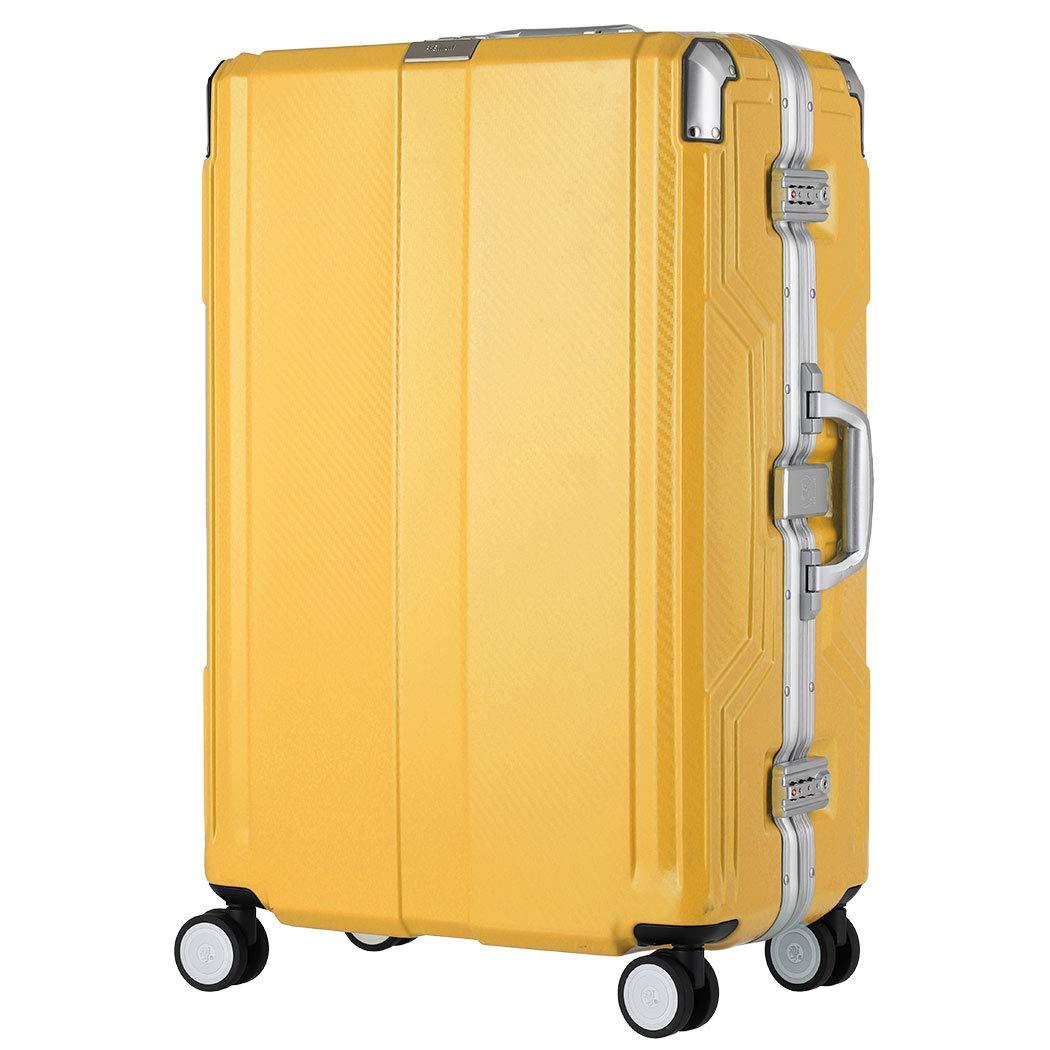 [アウトレット] 防犯ブザー機能搭載 スーツケース キャリーバッグ キャリーバック キャリーケース 中型 5- ダブルキャスター LEGEND WALKER レジェンドウォーカー B-6708-62 イエロー B07PN7RDW5