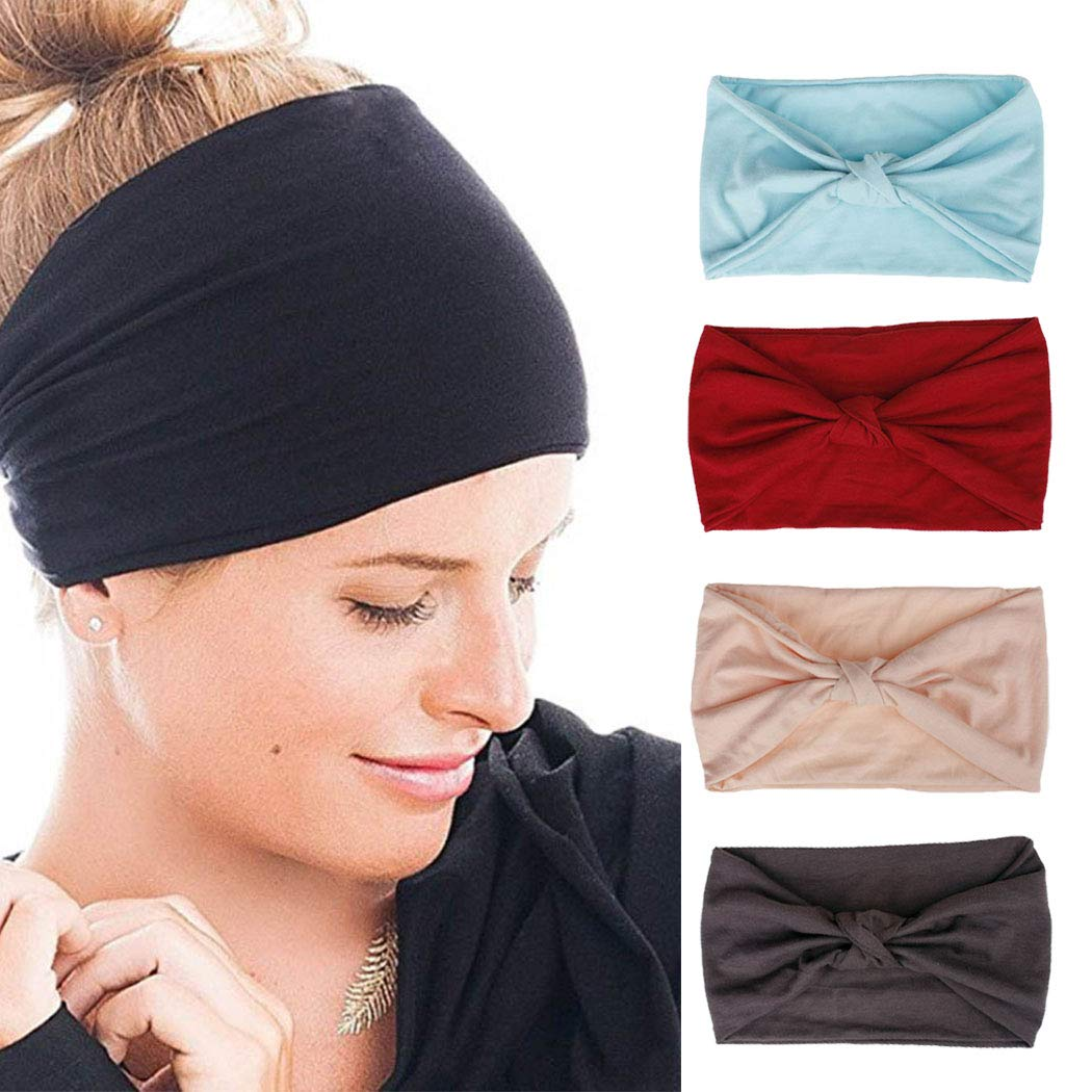 Fashion Velvet Twist Elastic Plain Turban Hairband Yoga Sport Lady Knot Headband