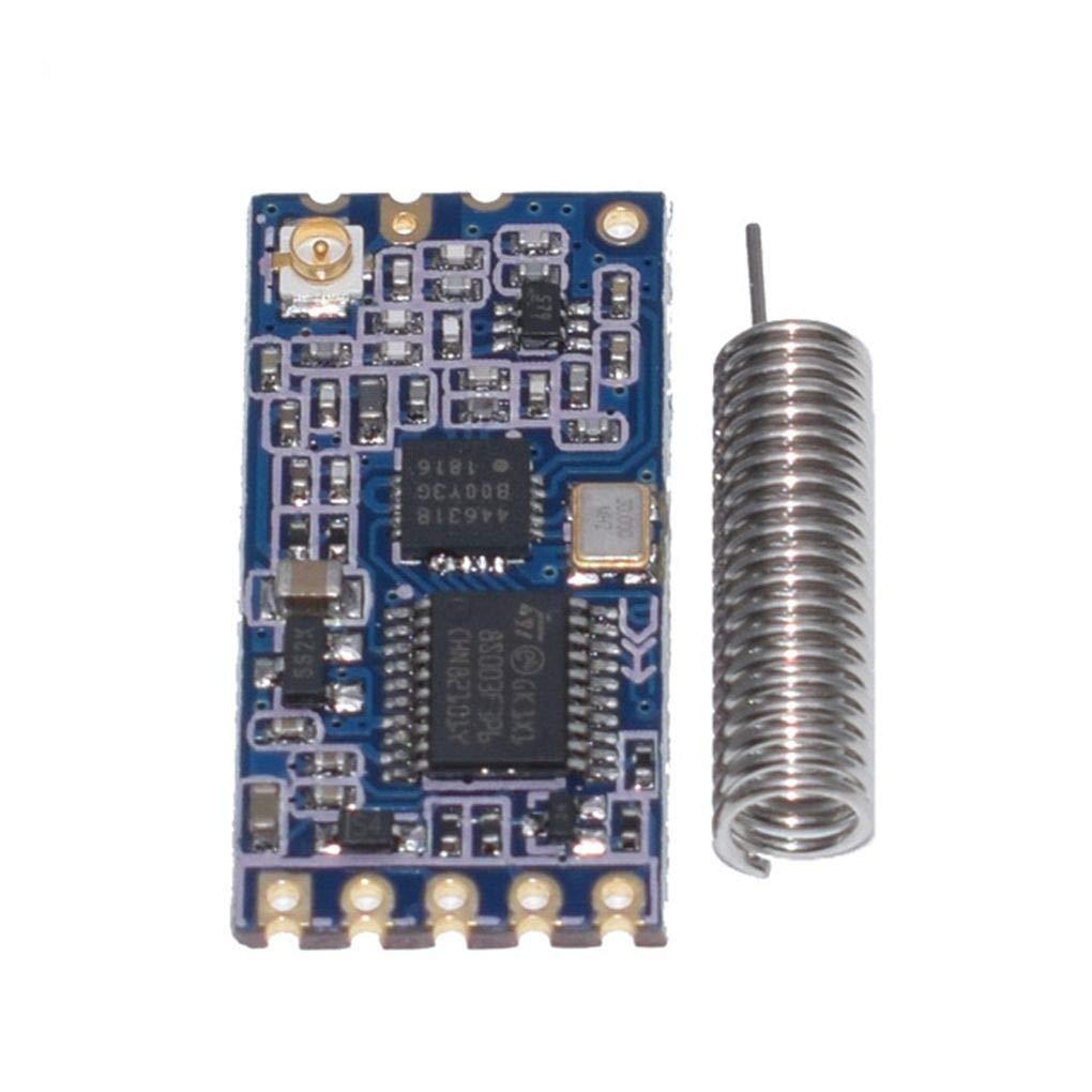 Kakiyi 433Mhz HC-12 SI4463 Wireless Serial Port Microcontroller Module 1000m Antenna Replace Bluetooth A0659230HO