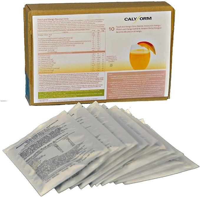 CALYFORM Batidos Proteínas para dieta sabor Melocotón y Mango | Bebida proteica en polvo saciante | Proteína dietética de calidad y aporte en ...