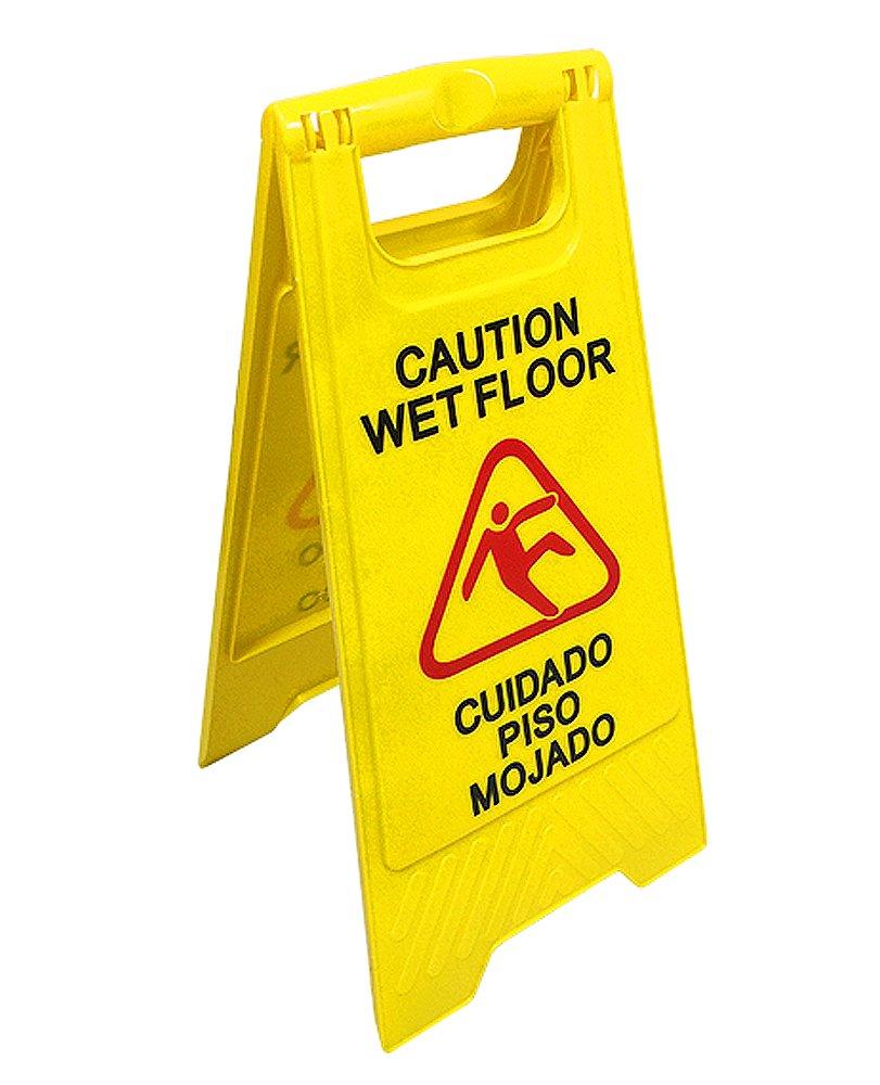 English & Spanish ''Wet Floor'' Sign
